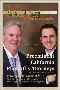Preeminent California Plaintiff's Attorneys – Statewide Practice Since 1981