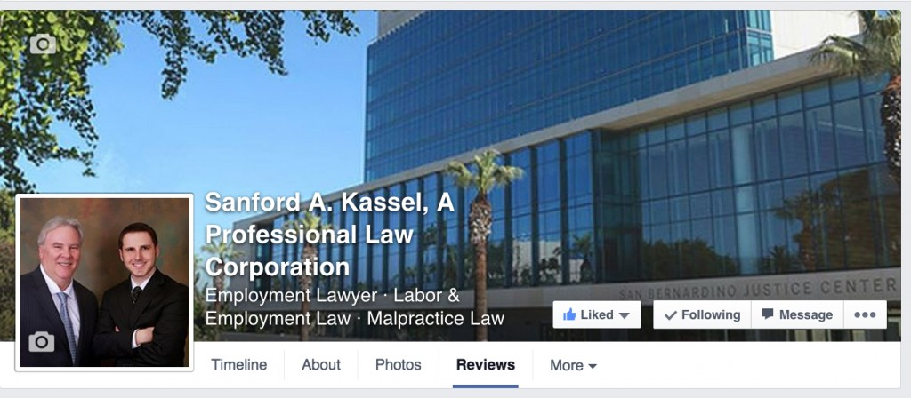 SANFORD A. KASSEL, A Professional Law Corporation - Facebook Client Reviews